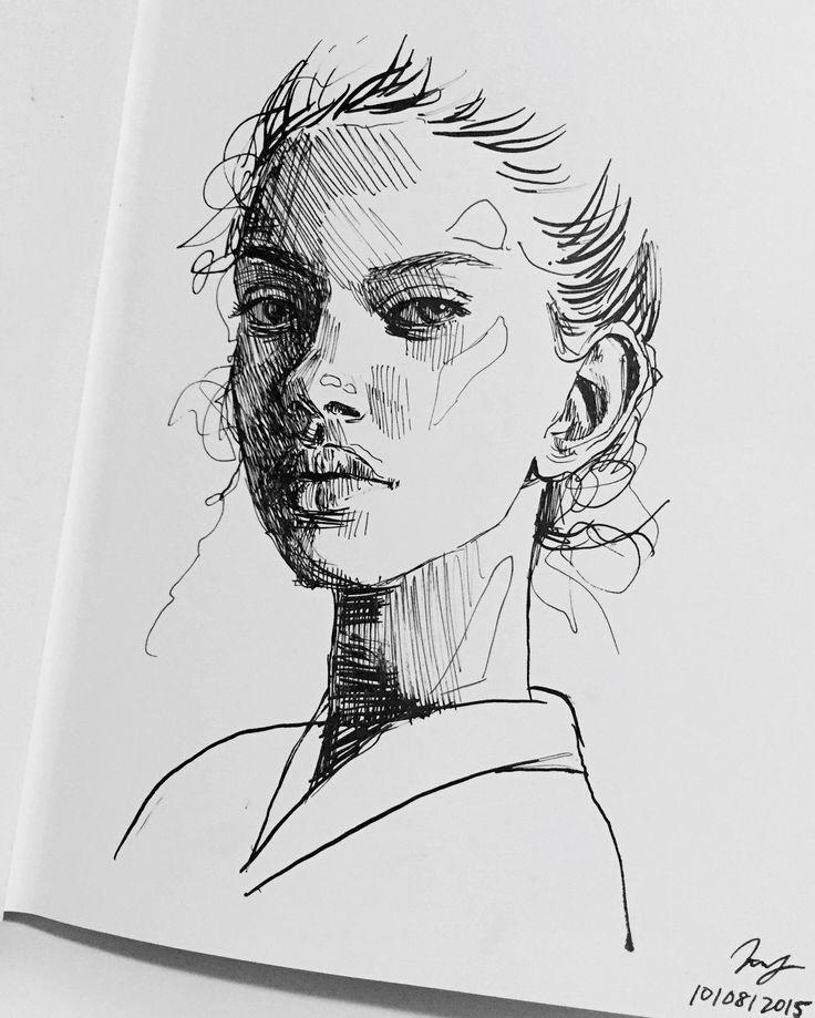 face art women sketch…