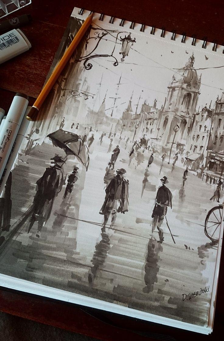City sketch, Darek Zabrocki
