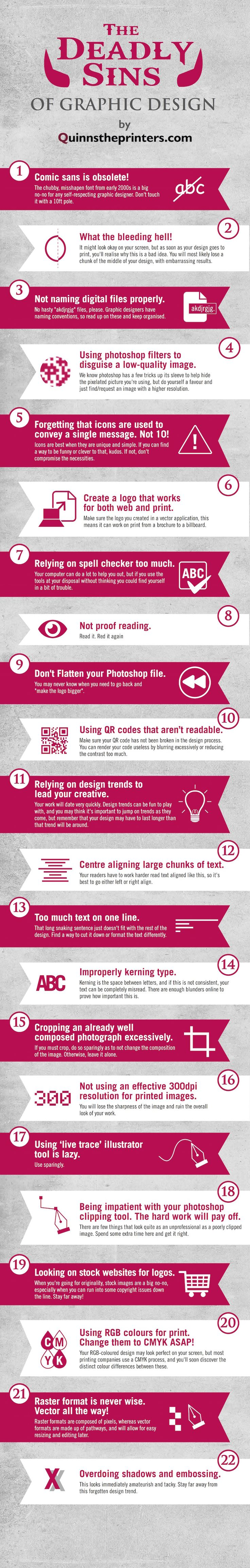 Graphic Design Sins: 22 Mistakes That Novice Designers Make…