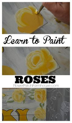 Learn how to Paint Roses, a step by step free tutorial with video.  Paint beauti…