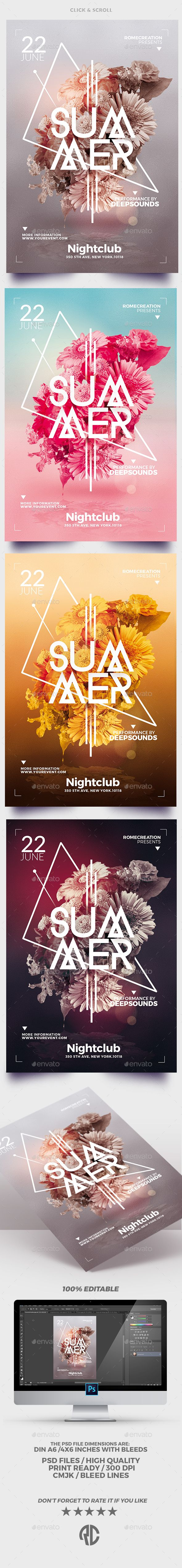 Minimalst #Summer | #Flyer Templates – Events Flyers Download here: graphicriver…