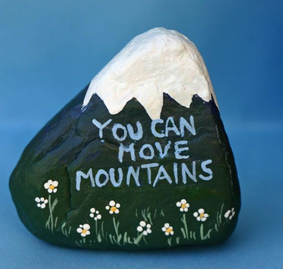 Painted rock Inspirational kitchen art bathroom by DeborahMcGeeArt…