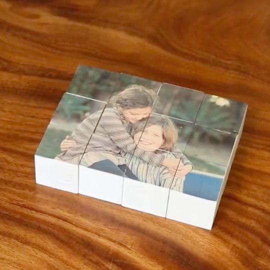 An easy DIY for kids and grownups to make a personalized wooden block puzzle usi…