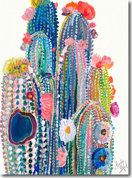 Desert Series VII, Starla Halfmann, oil, print, giclee, fine art, skyline, cacti…