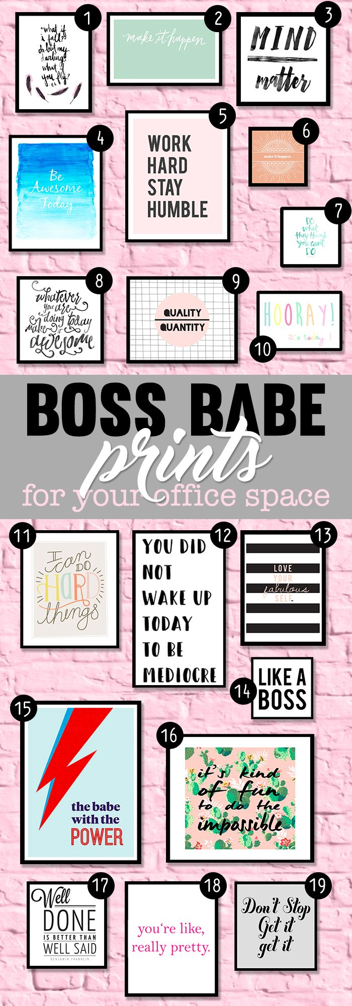 Inspirational and motivational office prints to help you stay creative and hard …