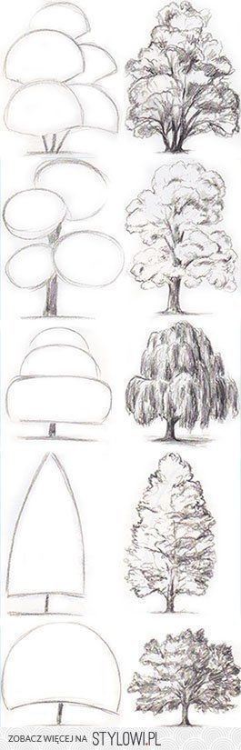 Learn a better way to draw trees. So necessary for my students and their puffalu…
