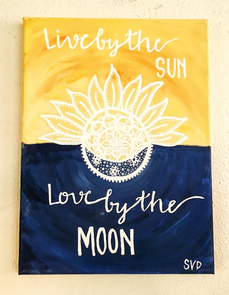 Sun and Moon Quote Canvas Painting