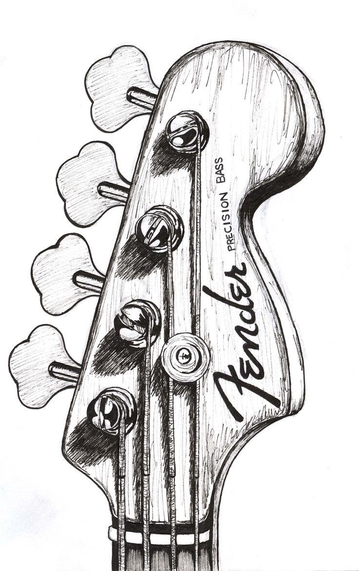 bass guitar drawing – Google zoeken                                             …