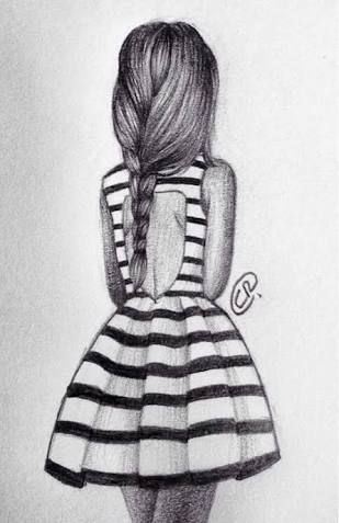 drawings of girls in dresses – Google Search