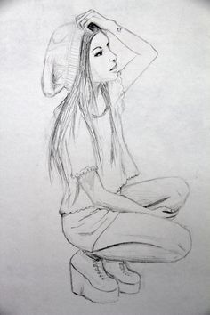 drawings of indie style girls – Google Search