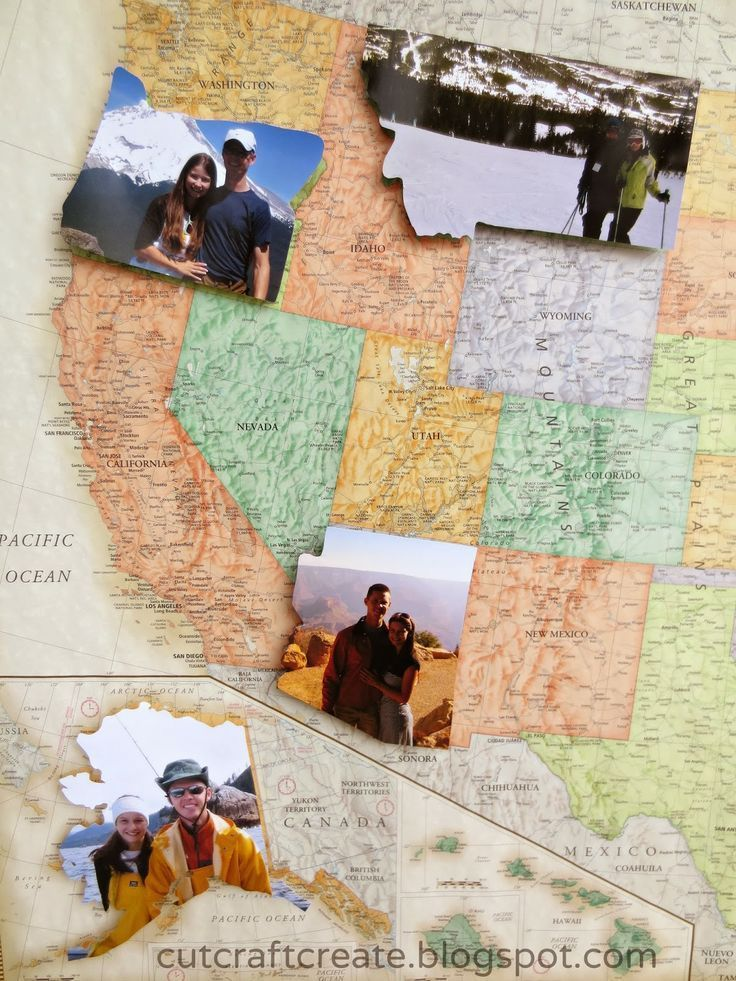 Personalized Photo Map {for our Paper Anniversary}