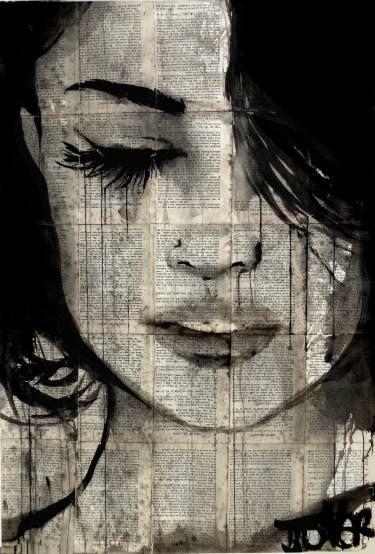 """Saatchi Art Artist: Loui Jover; Ink 2016 Drawing """"sometimes forever"""""""