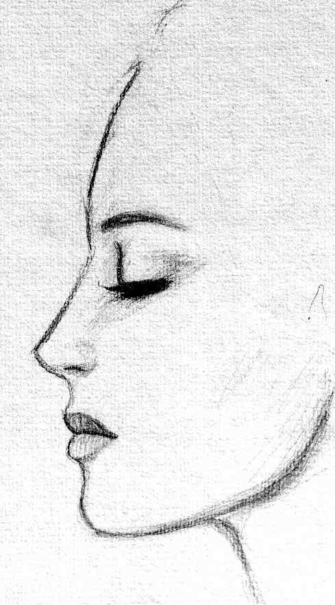side on face reference sketch – Google Search