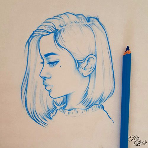 Drawings & Distractions – Blue Monday Girls Love the minimalist look and the use…