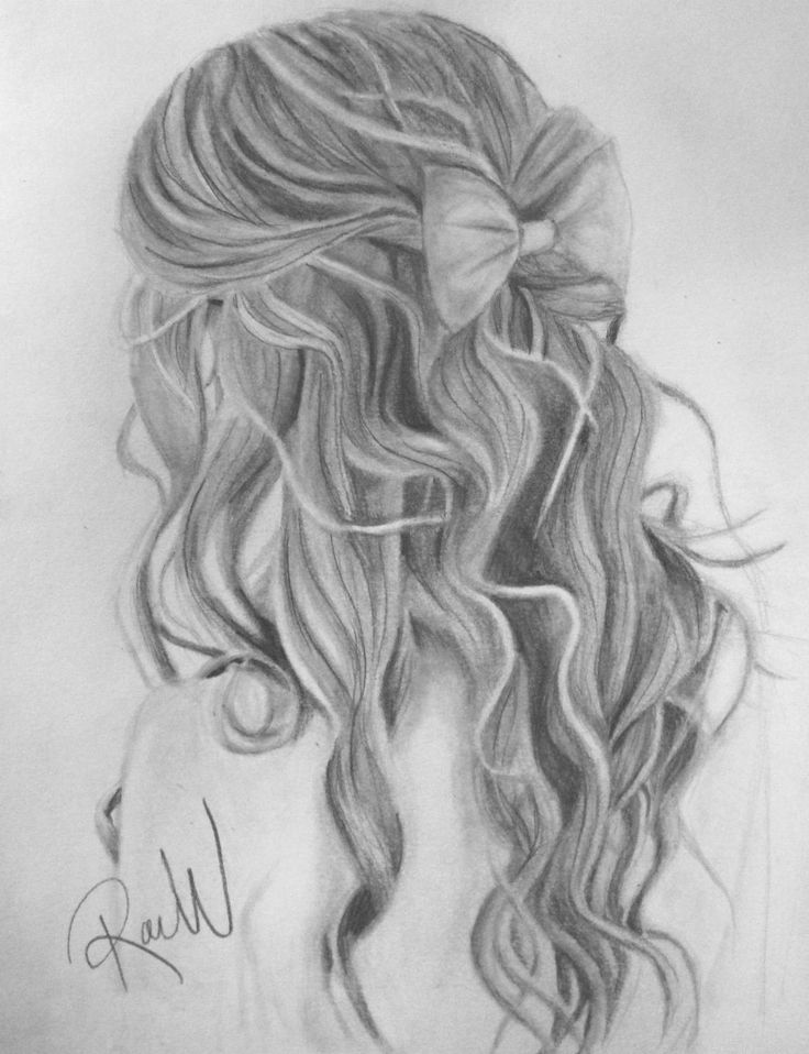 sketch of a girl's hair – Google Search