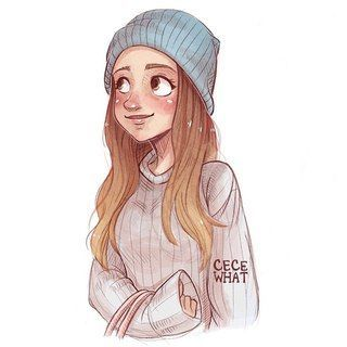 cute drawings of girls with brown hair   123 best images about love on Pinterest…