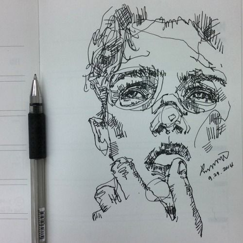 LINE – example of expressive, continuous line drawing                           …