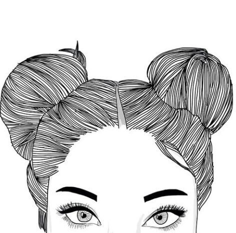 OUTLINE DRAWING OF GIRL WITH FACE COVERED TUMBLR – Google Search