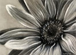 charcoal sketches of #flowers