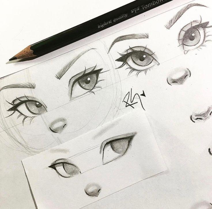 Eyes, nose