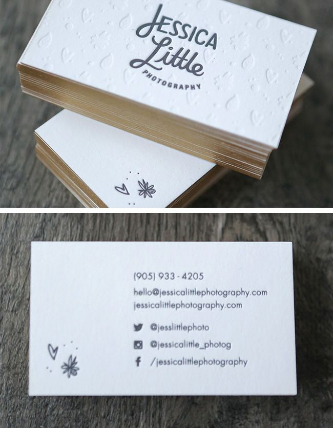 The Top 16 Photography Business Cards – Design Ideas || Simple and whimsical bus…