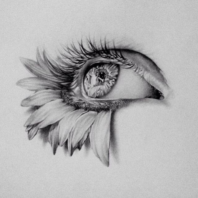 Sunflower eye  By @marcopennacchiaart – Hashtag us with #WorldofArtists ! My col…