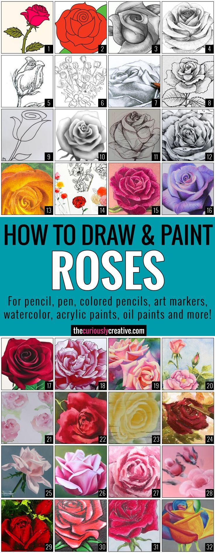 The Ultimate List of Resources and Tutorials for How to Draw a Rose with Pencil,…