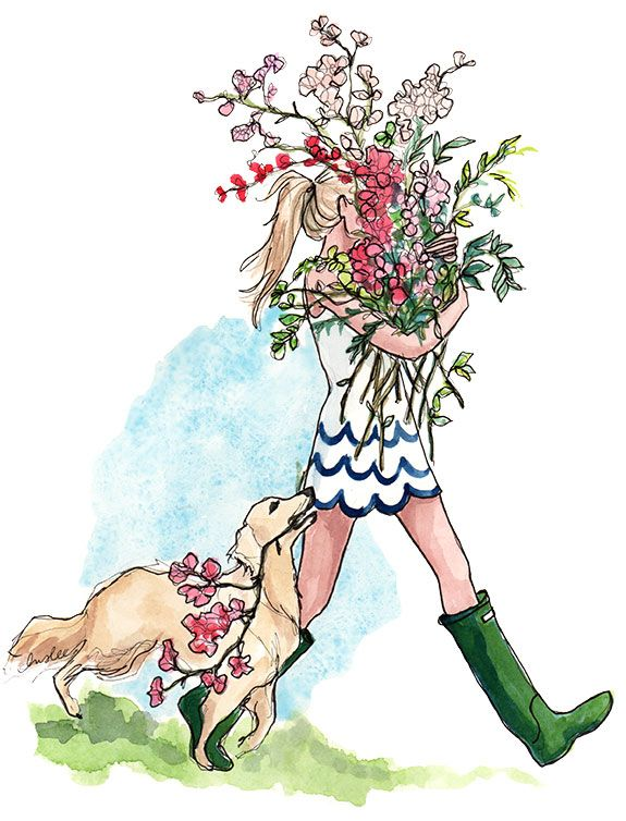 PUPPIES AND FLOWERS AND SCALLOPS, OH MY! IT MUST BE APRIL! 2014 by Inslee Haynes