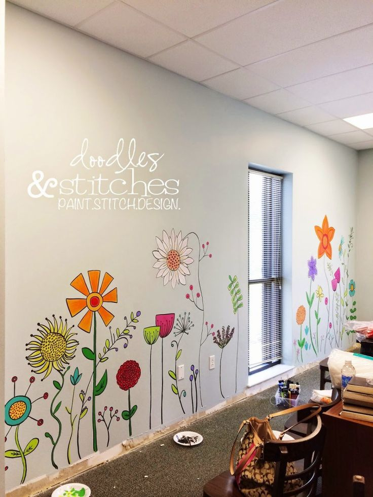 I just thought I'd share a recent project with you. I painted a mural on the w…