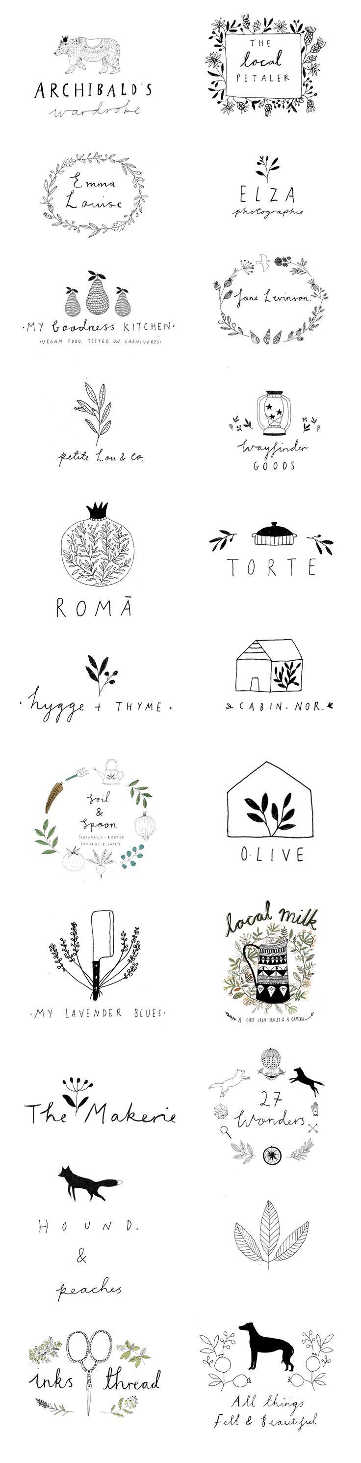 Logo designs by Ryn Frank www.rynfrank.co.uk hand written illustration jrstudiow…