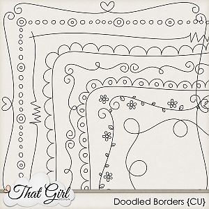 Scrap doodle borders would look cute around the edge of a dishtowel. Could use a…