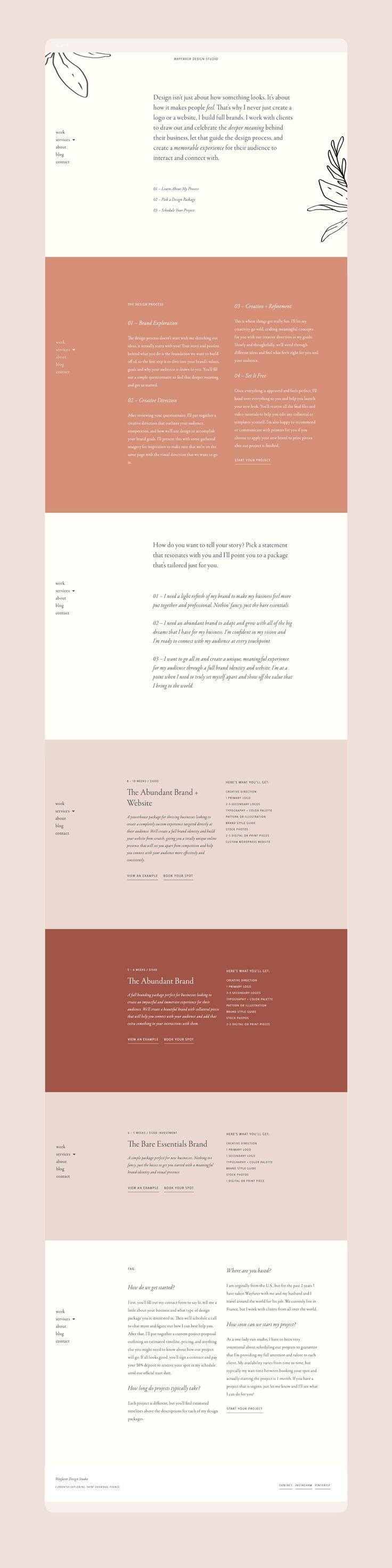 Web design by Wayfarer Design Studio // design, branding, brand, brand identity,…
