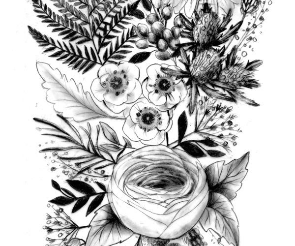 I love the ranunculus and the fern leaf   A selection of tattoo sketches  I am n…