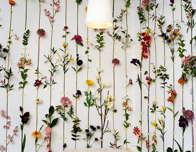 Transform dried flowers into gorgeous wall decor. could also use homemade paper …