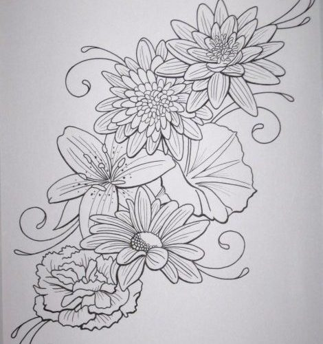 Flower Tattoo by DanielleHope.devi… on deviantART