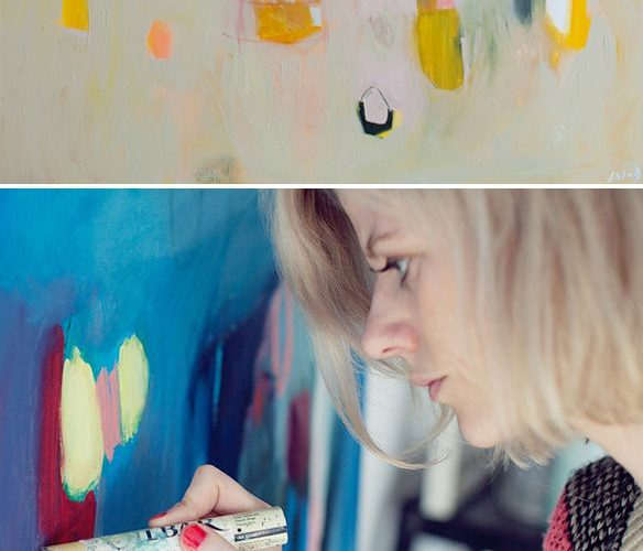 Lola Donoghue – Her abstract paintings and the most incredible studio I've ever …