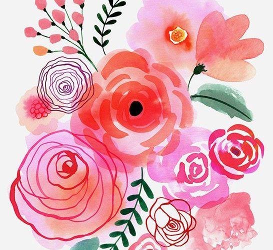 Margaret Berg Art: Pink+Blooms | Flowers | watercolor | floral design           …