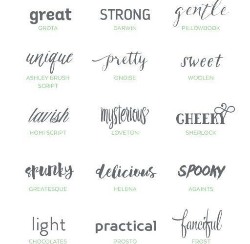 Professional and Artistic Font Bundle – a collection of typefaces in a variety o…