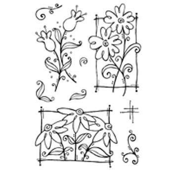 Woodware Clear Magic Stamps: Flower Doodles, Woodware, Woodware Clear Magic Stam…