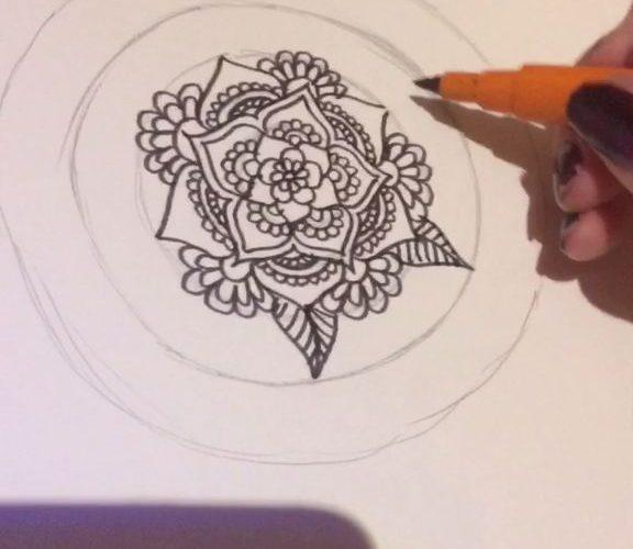 Zen Floral Doodling