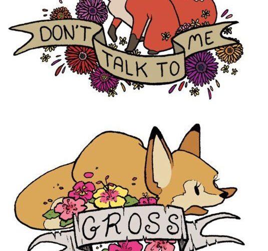 Adorable rude foxes: