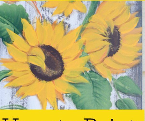 Easy and fun sunflower painting tutorials by different artists!
