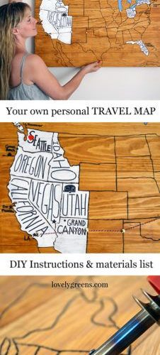 Remember your journeys and adventures with a do-it-yourself Personal Travel Map….