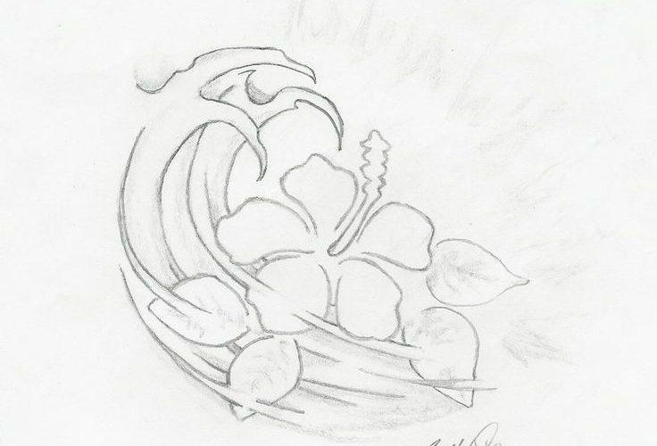 Hawaiian Flower Pencil Sketch By Revolt914 On Deviantart Design 894×894 Pixel