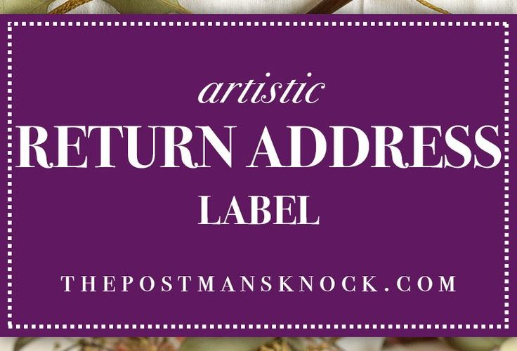 In this tutorial, you'll learn how to make a beautiful, artistic return addr…