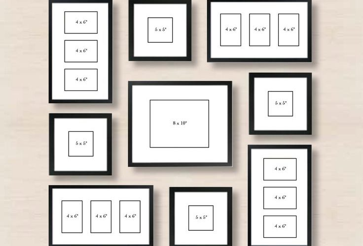Spiral Gallery Wall Layout Tip: start with placing the center frame, and then sp…