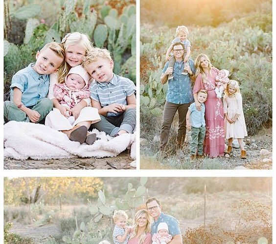What to Wear for Family Pictures featuring a desert-inspired pallet of dusty ros…