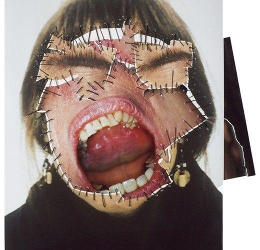 Annegret Soltau German artist Annegret Soltau constructs collage using photograp…