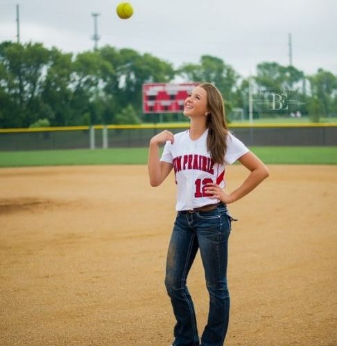 Brenda Eckhardt Photography;softball senior portraits;senior girl softball toss;…
