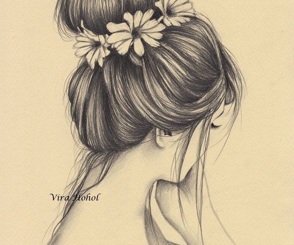 She wore flowers in her hair by Vira1991.devianta… on @DeviantArt